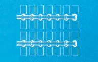 Preiser 97000 Sockel, glasklar 10 x 7 mm