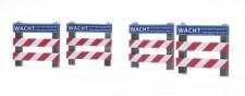Artitec 387.353 Zäune: Bahnübergang mit Schild