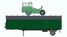 REE Modeles CB023 CIMT SZM m. Auflieger 1-achs grün