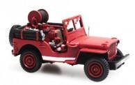 REE Modeles CB086 Jeep mit Motorpumpe Pompiers