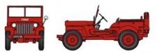 REE Modeles CB088 Jeep Sapeurs Pompiers / Ville de Fumay