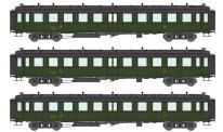 REE Modeles VB212 SNCF Personenwagenset 3-tlg Ep.3a