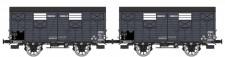 REE Modeles WB687 AL gedeckte Güterwagen-Set 2-tlg. Ep.2