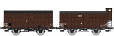 REE Modeles WB689 SNCF gedeckte Güterwagen-Set 2-tlg Ep.3b