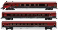 Jägerndorfer JC11310 ÖBB railjet Personenwg-Set 3-tlg Ep.6 AC