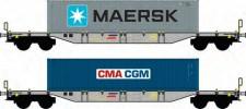 AF Models AF35010 CFR Containerwagen-Set 2-tlg. Ep.5