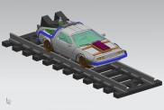 NPE NA23302 DMC DeLorean Schienen-Zeitmaschine