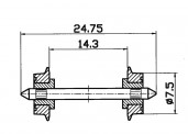 Roco 40189 NEM-Normradsatz  7,5mm