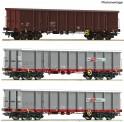 Roco 67153 ÖBB Offene Güterwagen-Set 3-tlg Ep.6