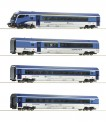 Roco 74064 CD Railjet Personenwagen-Set 4-tlg Ep.6