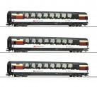 Roco 74081 SBB Personenwagen-Set 3-tlg. Ep.6