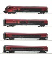 Roco 74083 4-tlg Set Railjet DC