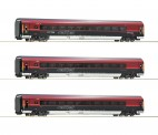 Roco 74086 3-tlg Set Railjet DC