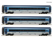 Roco 74139 CD Railjet Personenwagen-Set 3-tlg. Ep.6