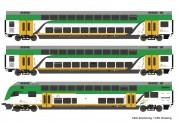 Roco 74160 Koleje Doppelstockwagen-Set 3-tlg. Ep.6