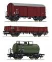 Roco 76018 CSD Güterwagen-Set 3-tlg Ep.3
