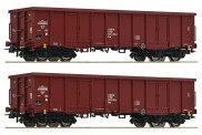 Roco 76038 PKP offene Güterwagen-Set 2-tlg Ep.5