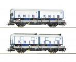Roco 76064 SBB Niederbordwagen Set 2-tlg. 'Knie' #