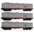 Roco 76082 ÖBB Hochbordwagen-Set 3-tlg. Ep.6