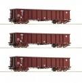 Roco 76091 HZ Cargo Hochbordwagen 4-achs. Set 3-tl