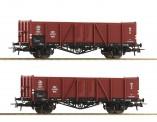 Roco 76104 PKP offene Güterwagen-Set 2-tlg.  Ep.3