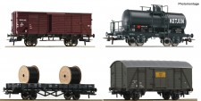 Roco 76134 NSB Güterwagen-Set 4-tlg Ep.3
