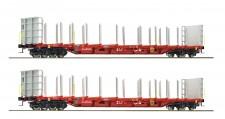 Roco 76141 ÖBB RCA Rungenwagen-Set 2-tlg Ep.5/6
