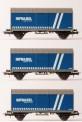 B-models 45716 SNCB gedeckte Güterwagen-Set 3-tlg Ep.6