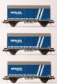 B-models 45717 SNCB gedeckte Güterwagen-Set 3-tlg Ep.6
