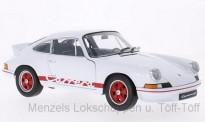 Welly WEL18044we Porsche 911 Carrera RS weiß/rot 1973