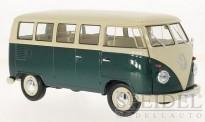 Welly WEL18054Green VW T1/2b Bus weiß/grün