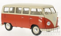Welly WEL18054RED VW T1/2b Bus rot/weiß