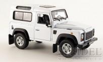 Welly WEL22498ws Land Rover Defender weiß