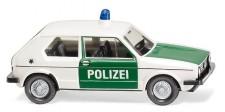 Wiking 004503 VW Golf I (2t) Polizei (minzgrün/weiß)