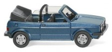 Wiking 004604 VW Golf I Cabrio oceanic blue metallic