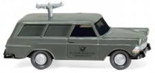 Wiking 007148 Opel Rekord´60 Caravan Fernmeldedienst
