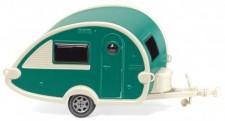 Wiking 009238 Wohnwagen (T@B) grün/perlweiß