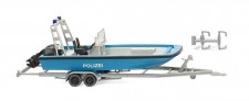 Wiking 009545 Mehrzweckboot MZB72 (Lehmar) Polizei