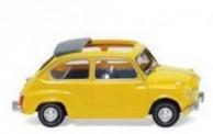 Wiking 009905 Fiat 600 gelb offen