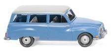 Wiking 012301 Auto Union 1000 Universal blau/Dach weiß