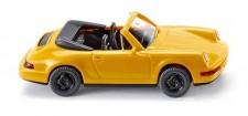Wiking 016504 Porsche 911 (964) Carrera 4 Cabrio gelb