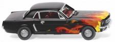 Wiking 020503 Ford Mustang Coupé schwarz mit Flammen