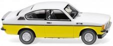 Wiking 022902 Opel Kadett C Coupé GT/E - weiß/gelb