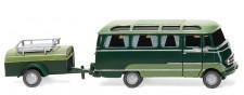 Wiking 026004 MB O319 Panoramabus m. Hg. grün