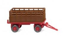 Wiking 038404 Landwirtschaftlicher Anhänger braun/rot