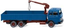 Wiking 043307 MB LP2223 Hochbordpritschen-Lkw blau