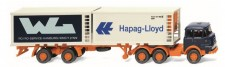 Wiking 052201 Krupp 806 2x20ft Container-SZ WL/Hapag