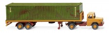 Wiking 055405 Magirus Deutz 40ft C-SZ gelborange