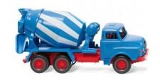 Wiking 068208 MAN Betonmischer (3a) blau/weiß