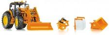 Wiking 077342 John Deere 7430 mit Frontlader orange